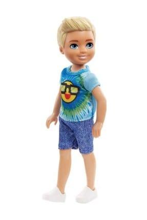 Barbie Chelsea Emoji Desenli Tişörtlü Erkek Bebek FRL83-DWJ33