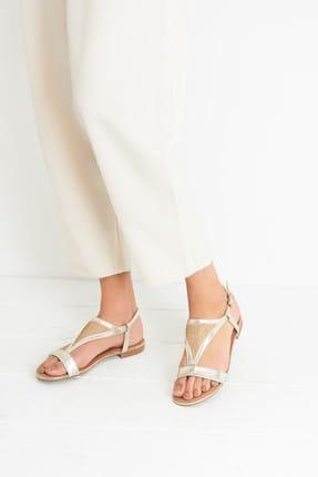 Derimod Açık Altın Rengi Kadın Sandalet