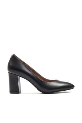 Hotiç Hakiki Deri Siyah   Klasik Topuklu Ayakkabı 01AYH132930A100