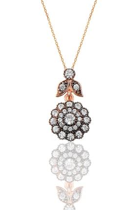 Söğütlü Silver Gümüş Elmas Montürlü Kolye SGTL9870