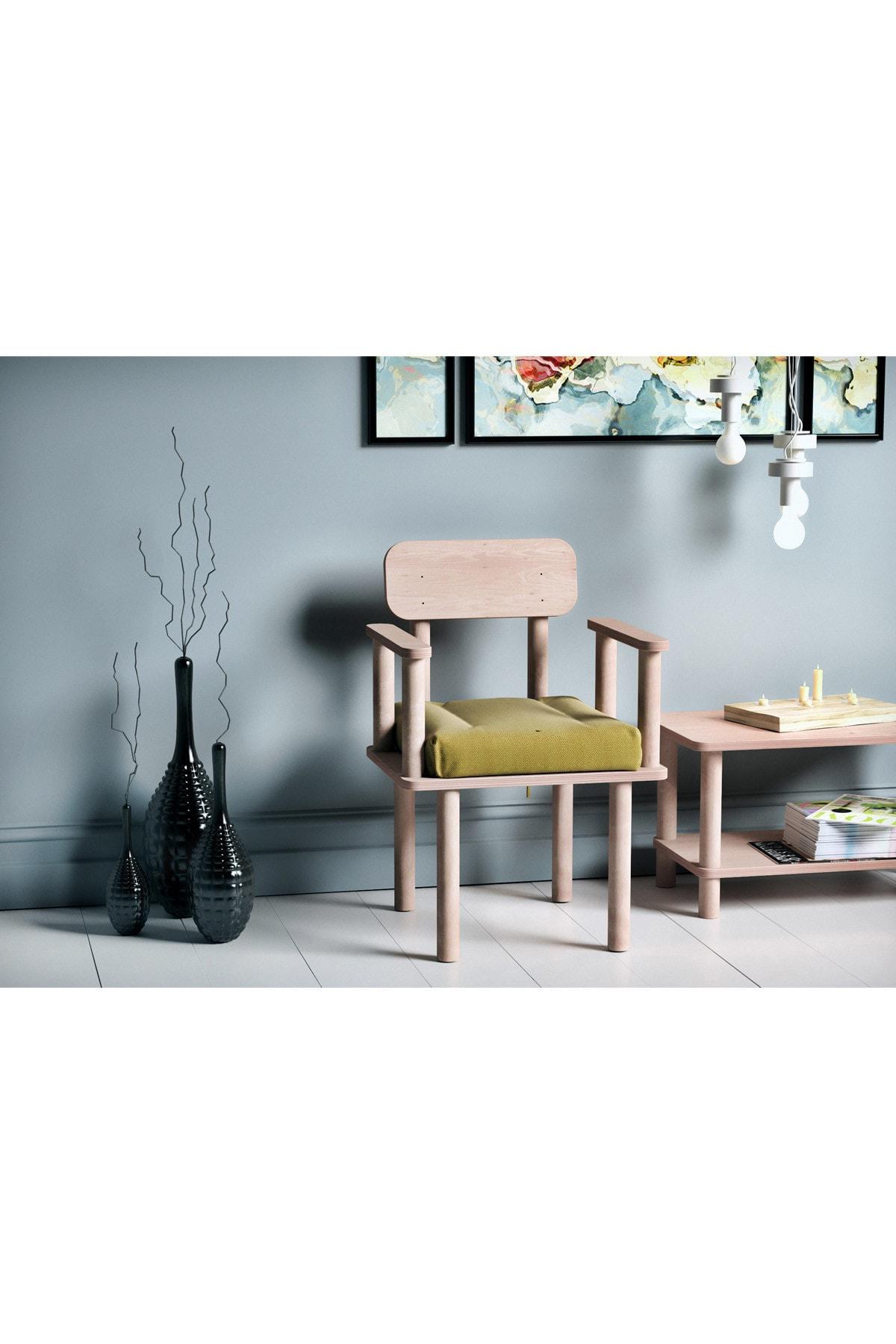 VUDIVA Magnesia Kolçaklı Sandalye Sarı