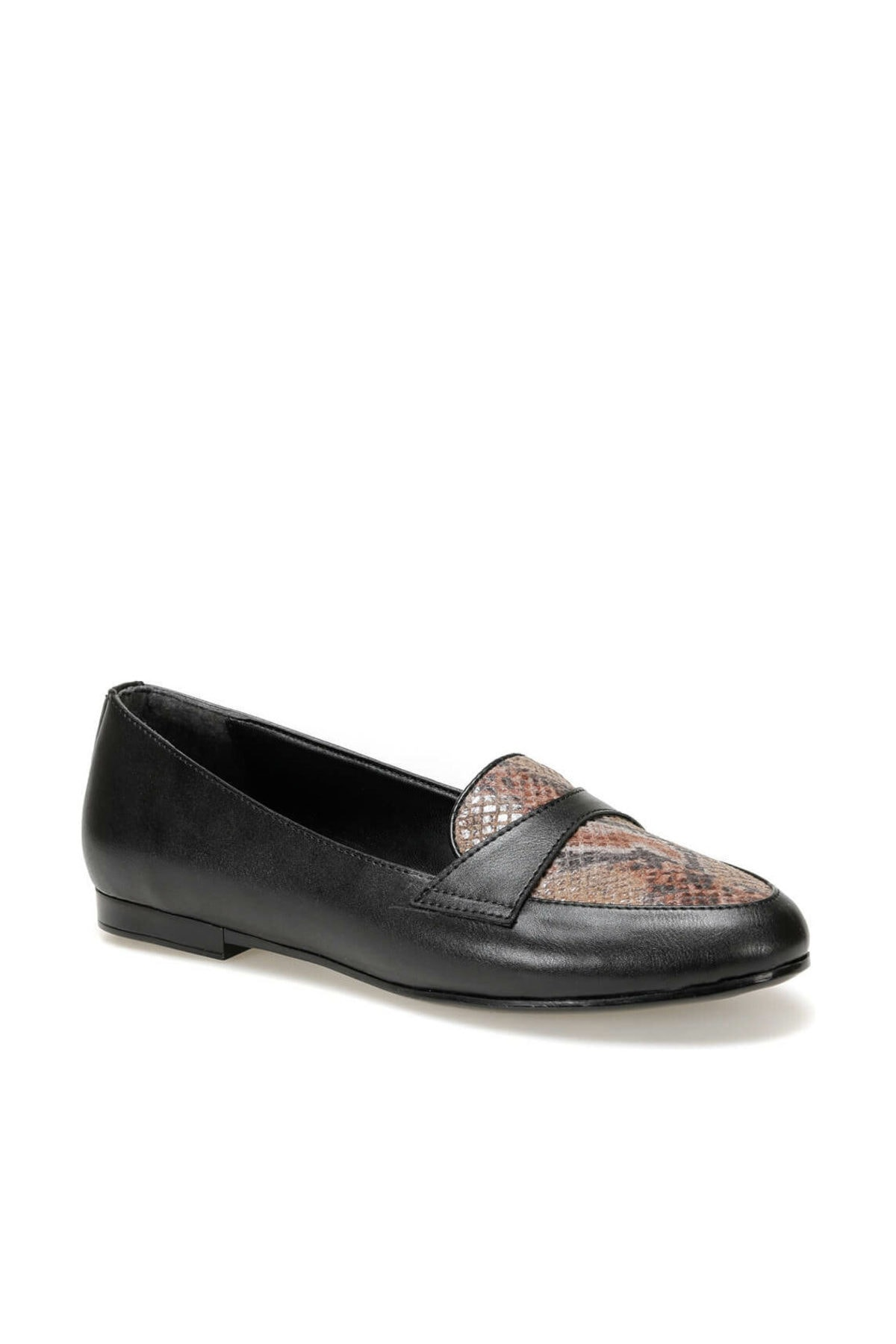Miss F DW19083 Siyah Kadın Loafer Ayakkabı 100440363 1