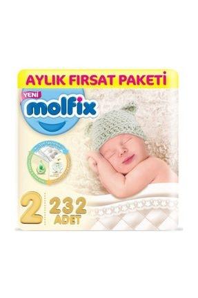 Molfix Bebek Bezi Aylık Paket 2 Beden 3-6 Kg 232 Adet