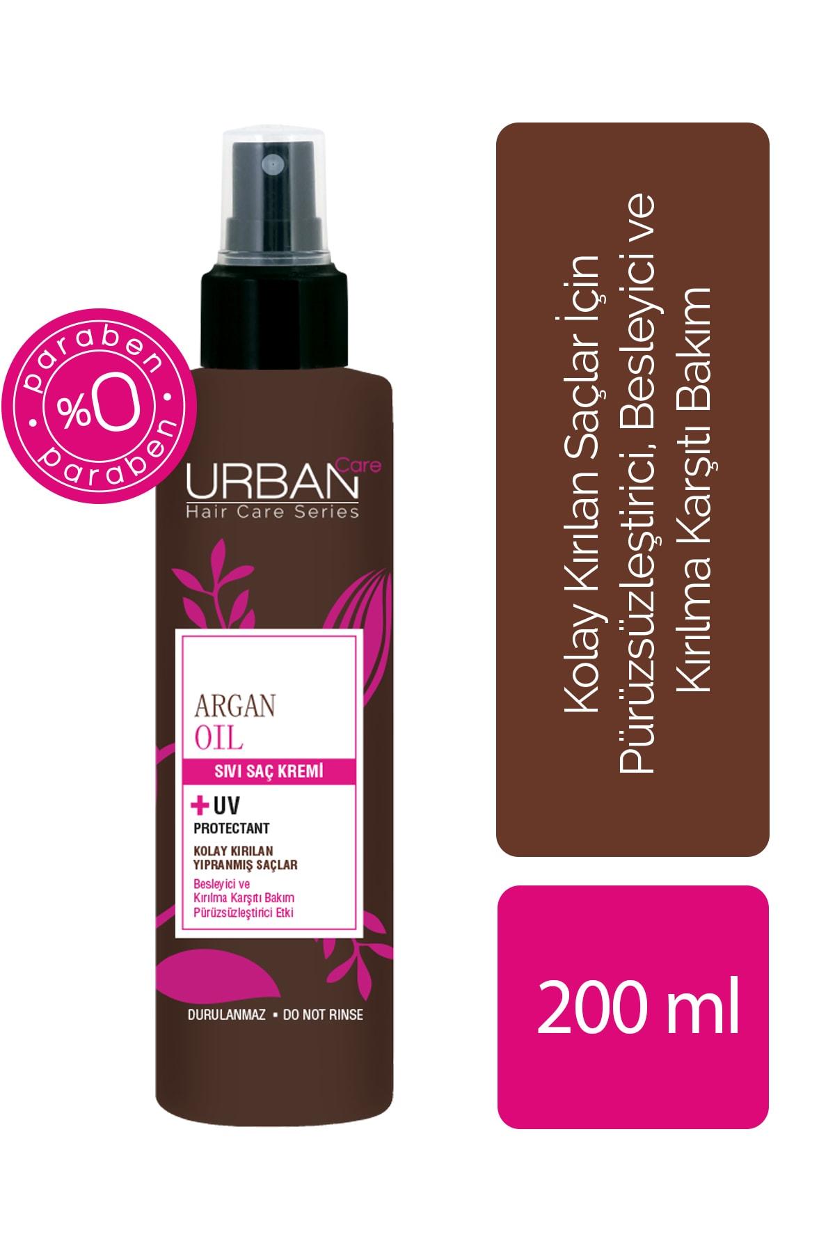 Urban Care Argan Yağı & Keratin Kırılma Karşıtı Sıvı Saç Kremi 200 ml 1