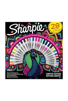 Sharpie Fine Permanent Marker 28li Tavuskuşu