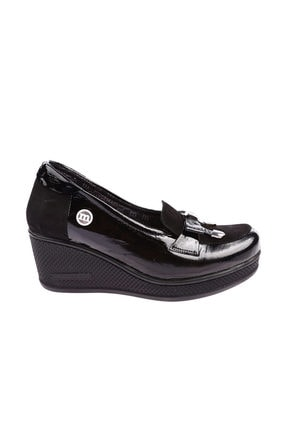 Mammamia Siyah Kadın Dolgu Topuklu Ayakkabı