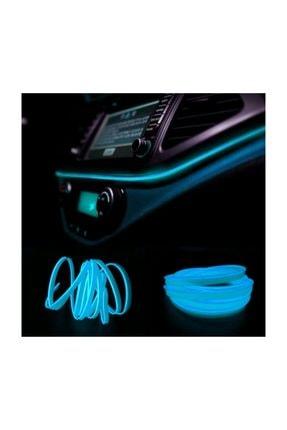 Mfk Araç İçi Torpido Ledi - İp Led - Neon Led - Şerit Led / Buz Mavi
