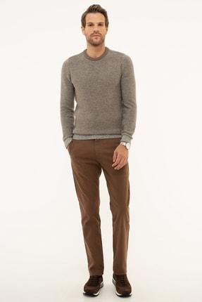 Pierre Cardin Erkek Camel Slim Fit Chino Pantolon