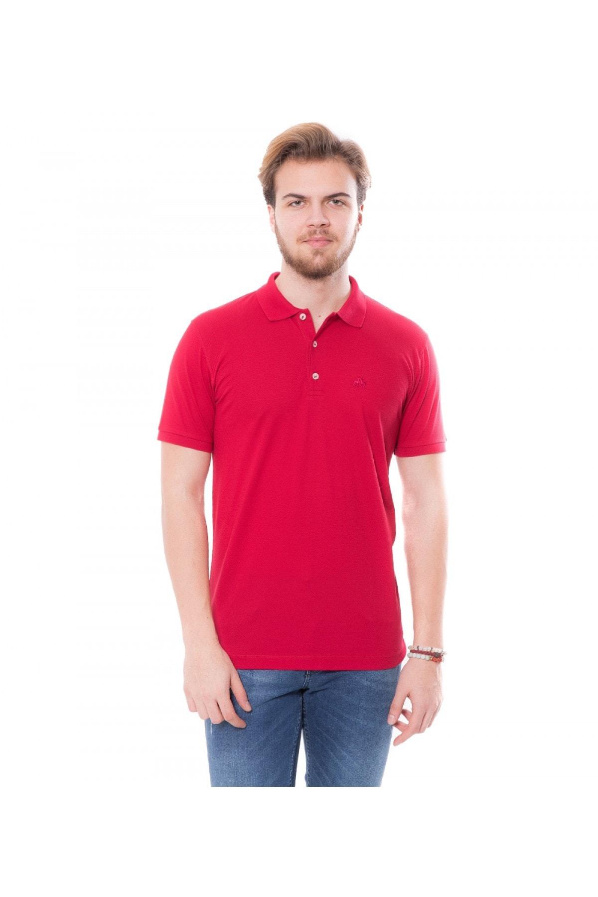 Karaca Erkek Slim Fit Pike T Shirt   Bordo