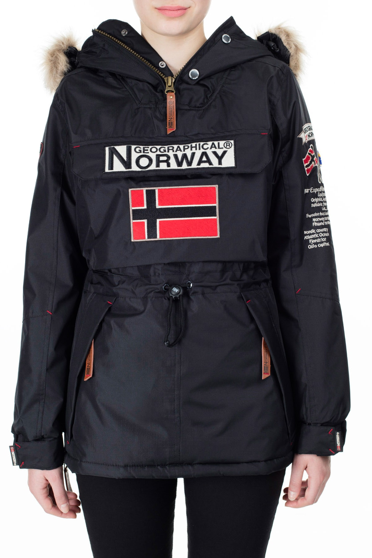 Norway Geographical Kadın Siyah Parka BOOMERA 2