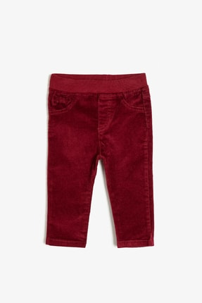Koton Bordo Kız Çocuk Pantolon
