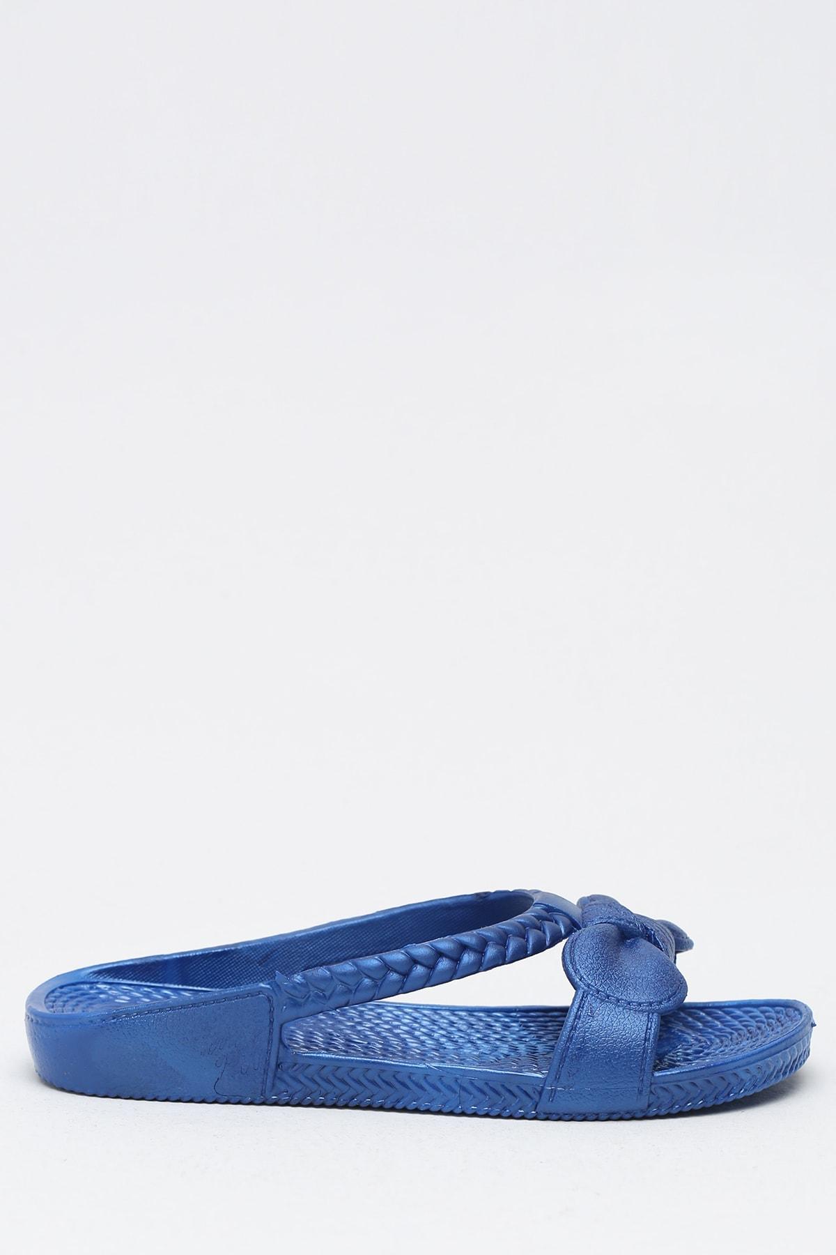 Ayakkabı Modası Saks Mavi Kadın Terlik M9999-19-100230R 1