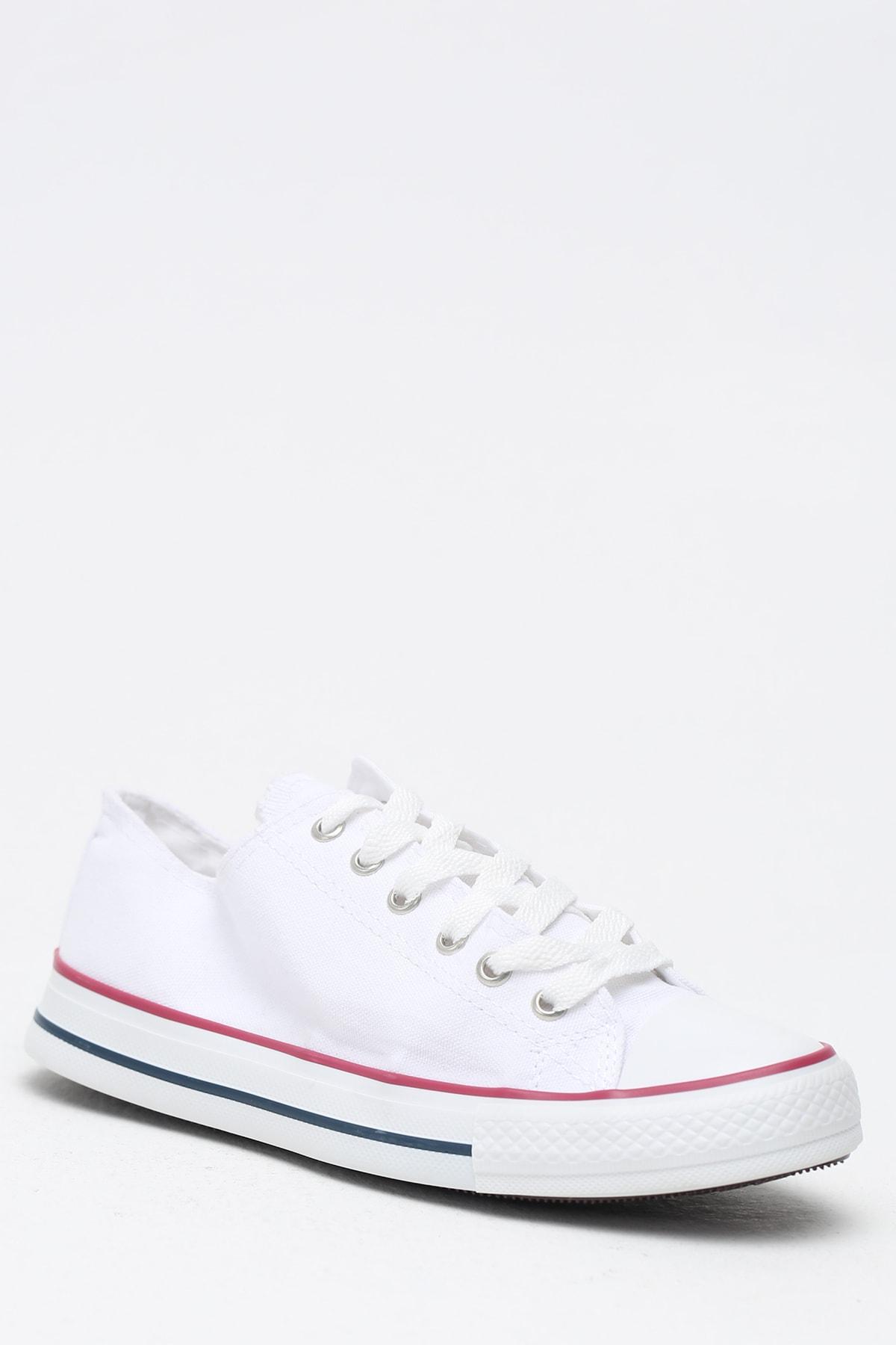 Ayakkabı Modası Beyaz Kırmızı Kadın Ayakkabı M9999-19-100165R 2