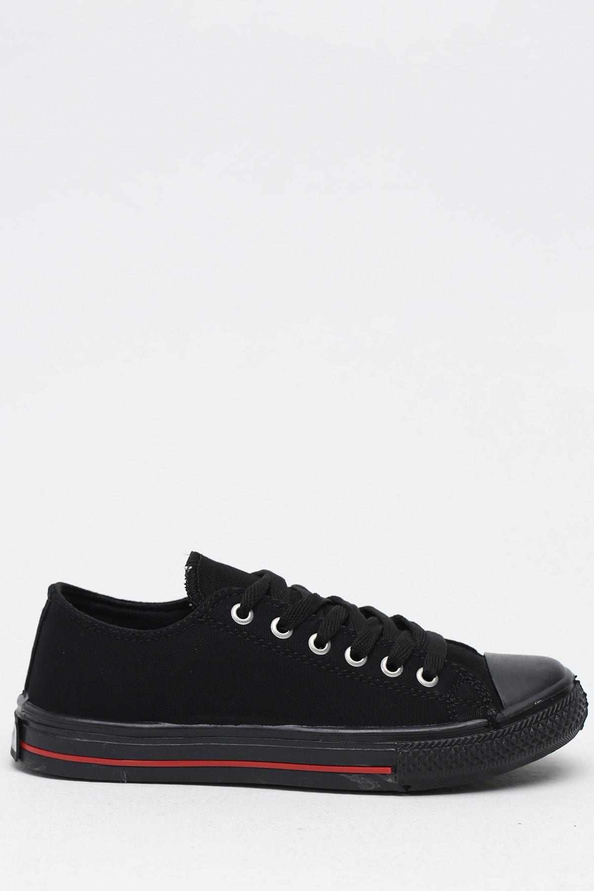 Ayakkabı Modası Siyah Kırmızı Kadın Ayakkabı M9999-19-100165R 1