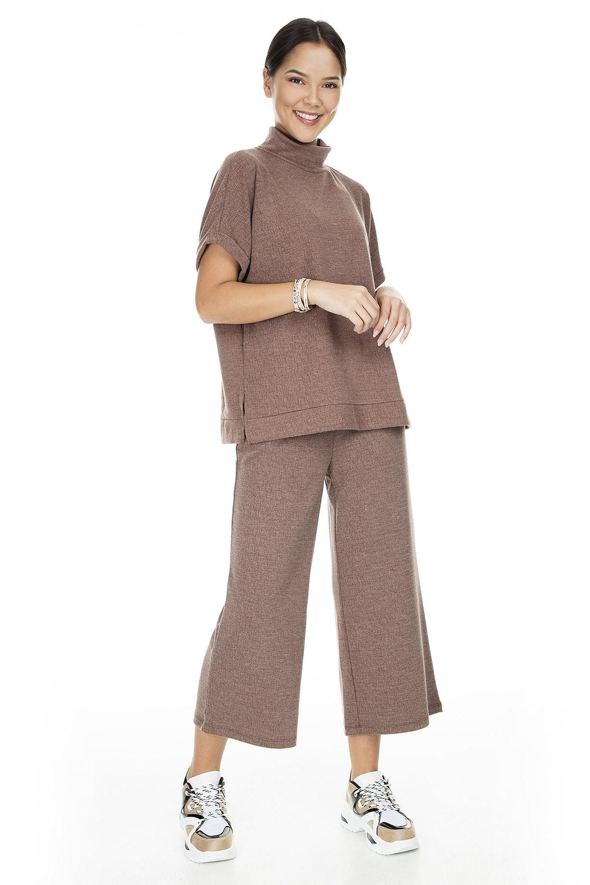 Vero Moda Kadın Kahverengi Örme Pantolon 10222549 VMFALLULAH 10222549