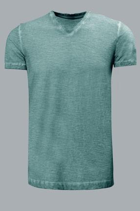 Lufian Erkek Geras Basic T- Shirt Nane Yeşili 111020008100670