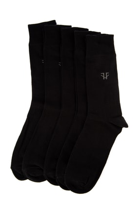 TRENDYOL MAN Siyah Erkek 5'li Paket Çorap TMNAW20CO0017