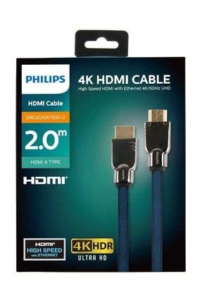 Philips 2 Metre HDMI Kablo Altın Uçlu 4K HDR ULTRA HD SWL6120K