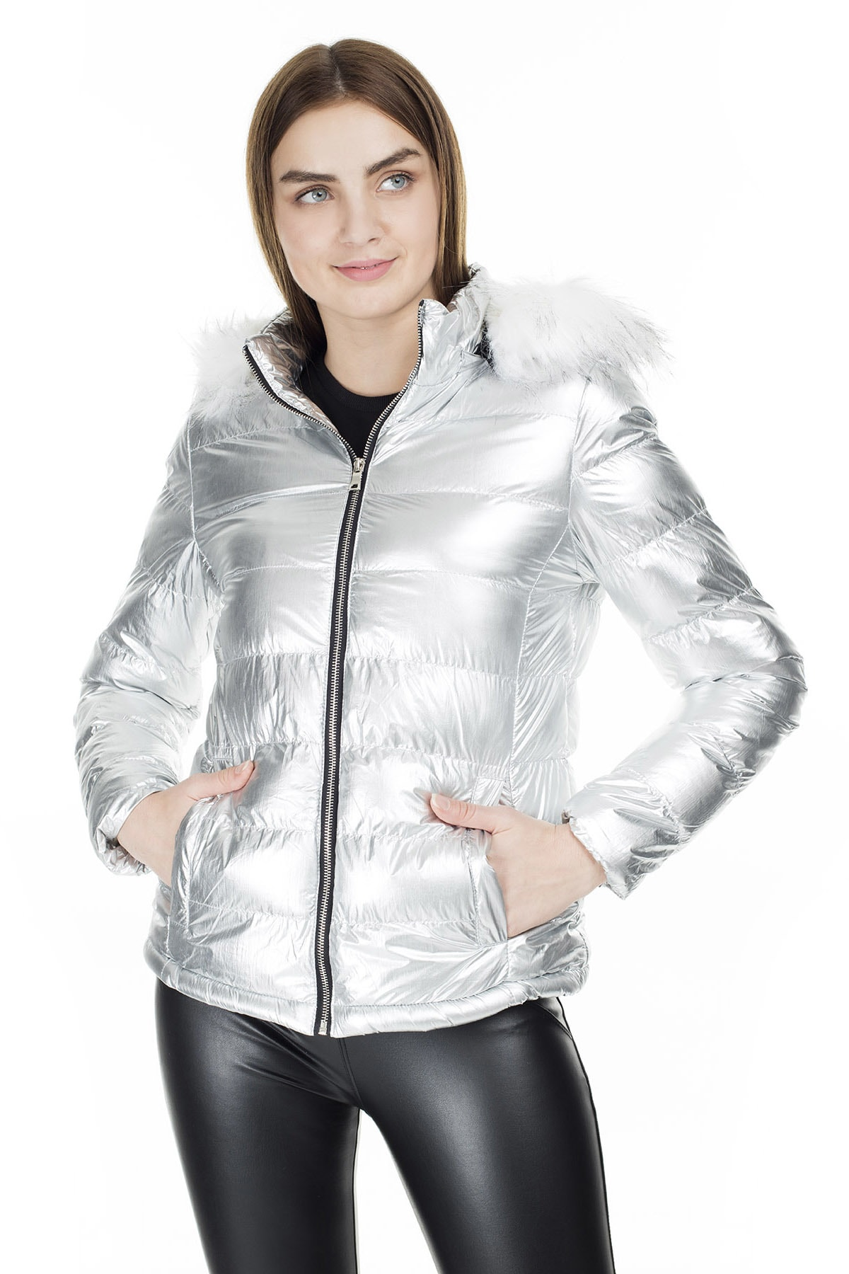 Fashion Friends Kapüşonlu Mont KADIN MONT 9K1618