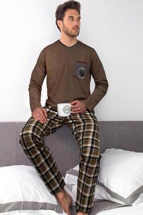 AYYILDIZ Erkek Kahverengi Pijama Takımı