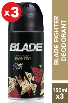 Blade Fighter 3'lü Erkek Deodorant 3 x 150 ml 506628-3