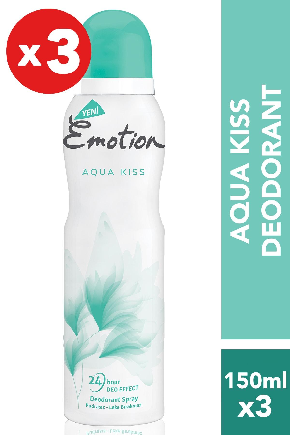 Emotion Aqua Kiss 3'Lü Kadın Deodorant (3X150 ml ) 1