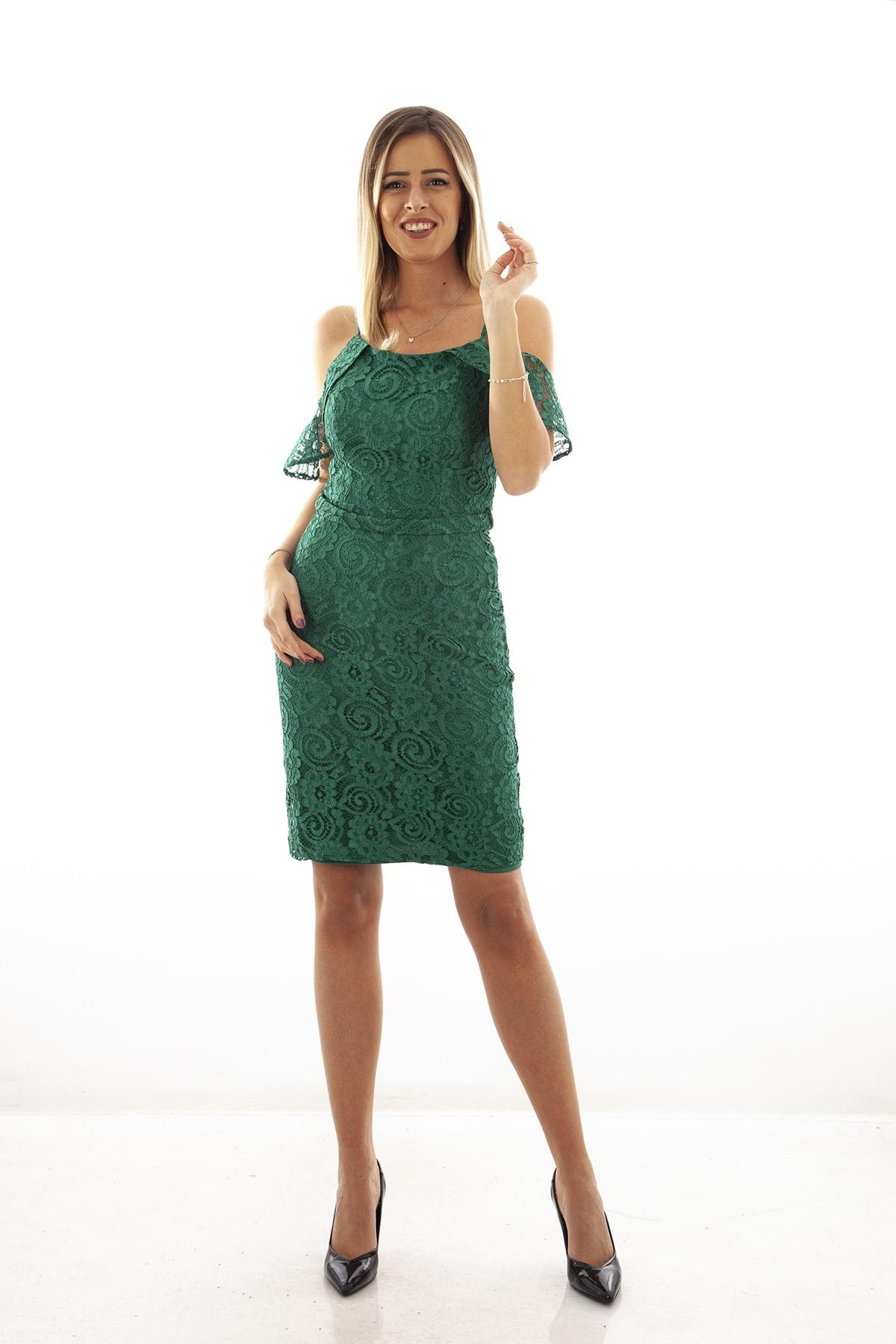 Ardanewline Kadın Yesıl Elbise 130122-10