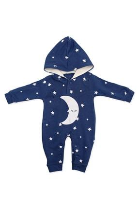 Murat Baby Uykucu Aydedeli Yıldızlı Mavi Bebek Tulumu K3006