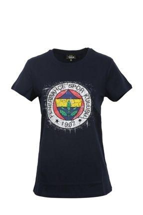 Fenerbahçe Kadın Tribün Renkli Logo Tshirt