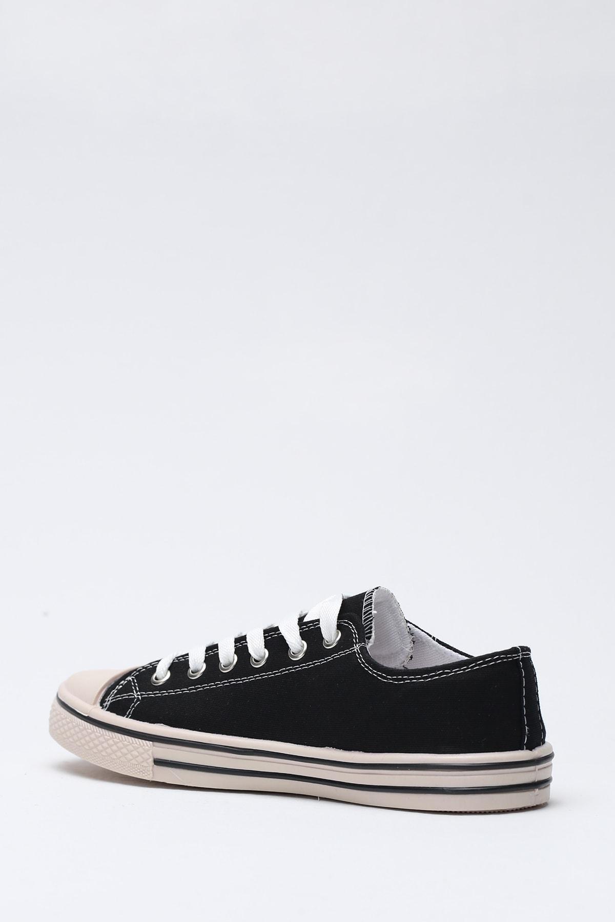 Ayakkabı Modası Siyah Krem Kadın Ayakkabı M9999-19-100165R 2