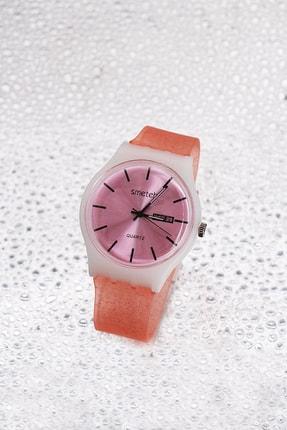 TAKIŞTIR Pembe Renk Silikon Kordonlu Kadın Saat