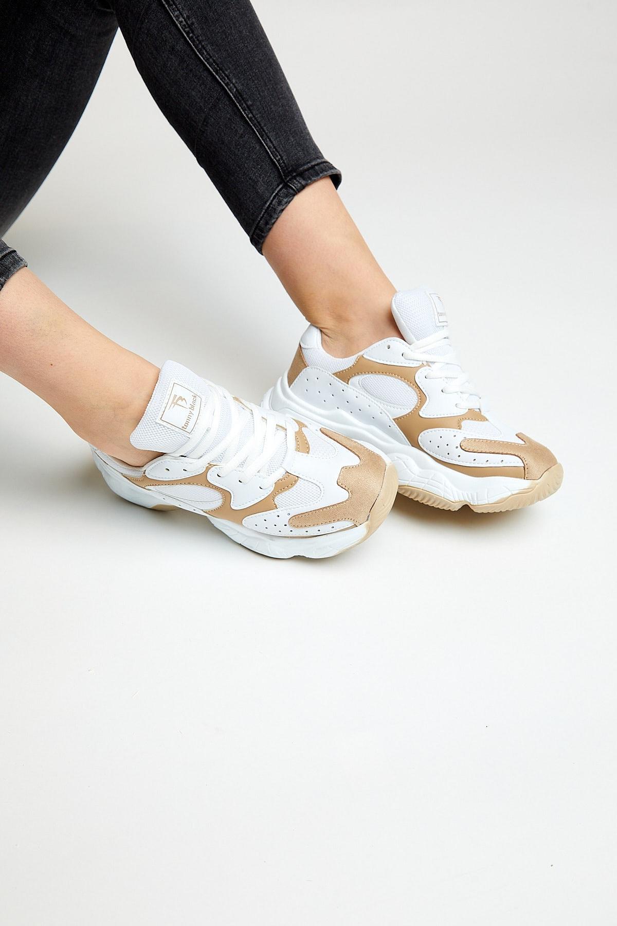 Tonny Black Kadın Beyaz Toprak Spor Ayakkabı Tb284 2