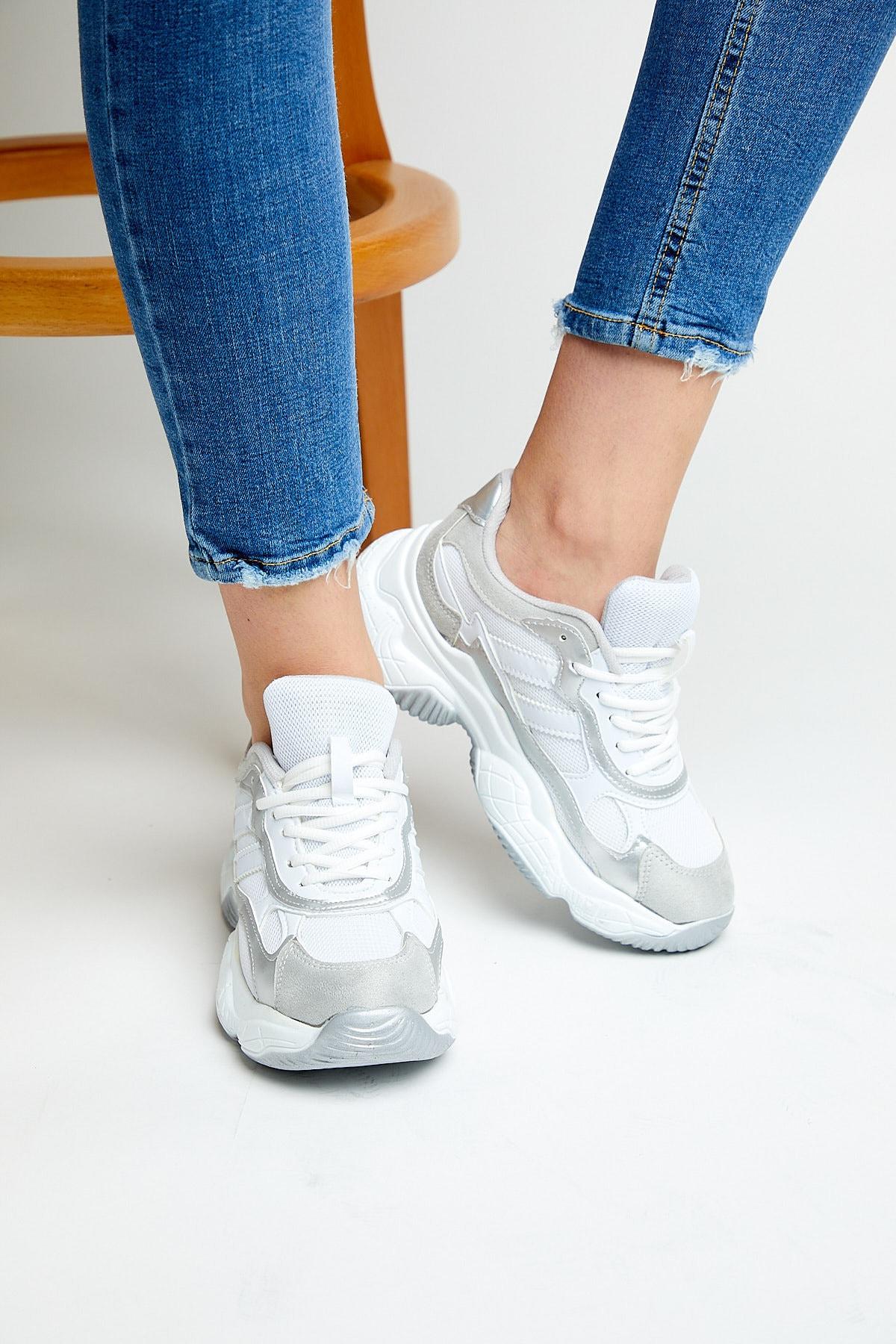 Tonny Black Kadın Beyaz Spor Ayakkabı Tb246 2