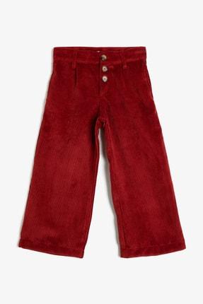 Koton Kız Çocuk Bordo Bordo Kadife Pantolon 0KKG47968AW