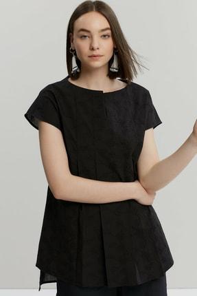 Yargıcı Kadın Siyah Tunik Gömlek 9KKGM6142A