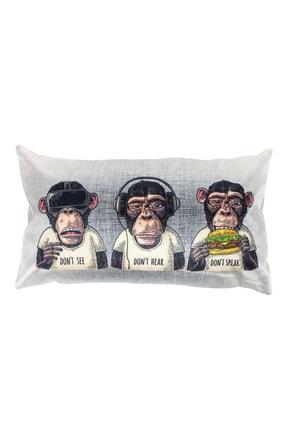 Mudo Concept Three Monkey Kırlent 35X55
