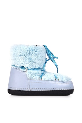 Oblavion Moonia Soft Mavi Kadın Kar Botu