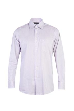 Kiğılı Erkek Mor Beyaz Çizgili Gömlek - Cb469