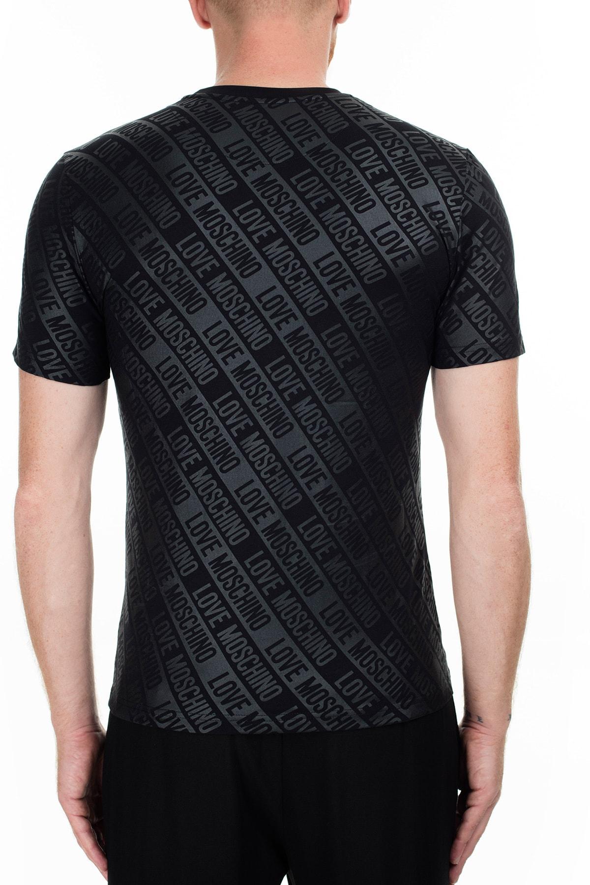 Love Moschino Erkek Siyah T-Shirt S M473100E2013 0017 2