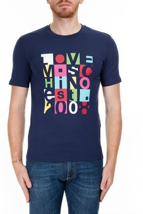 Love Moschino Erkek Lacivert T-Shirt S M47312Le1811 Y61