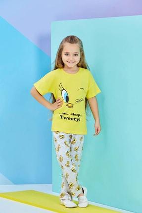TWEETY Lisanslı Kız Çocuk Pijama Takımı Sarı