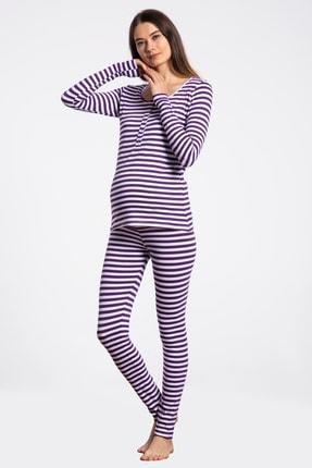 Lyn Devon Lilian Pijama Takımı - Mor
