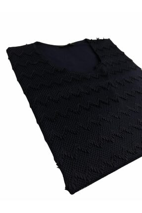 Elele Gipürlü Lacivert 0 Yaka Anne Penye Bluz