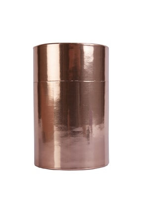 Ambalaj Hikayeleri Silindir Karton Kutu Metalize Bronz Kaplı