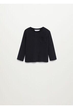 MANGO Baby Uzun Kollu Pamuklu Tişört
