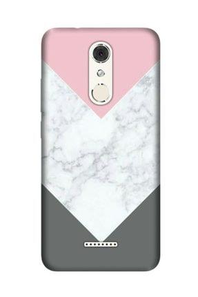 cupcase Casper Via M3 Kılıf Desenli Esnek Silikon Telefon Kabı Kapak - Beyaz Gri Mermer