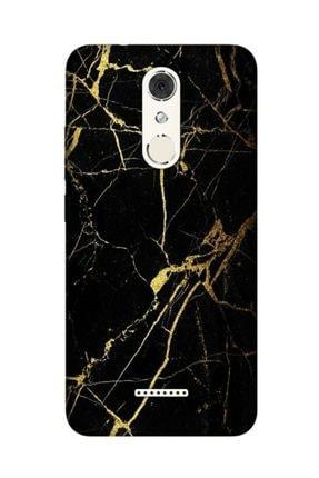 cupcase Casper Via M3 Kılıf Desenli Esnek Silikon Telefon Kabı Kapak - Sarı Siyah Mermer