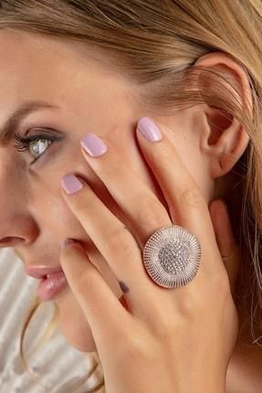 Modex Rose Kristal Taşlı Yüzük