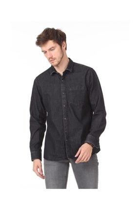 Ramsey Erkek Düz Dokuma Uzun Kollu Gömlek