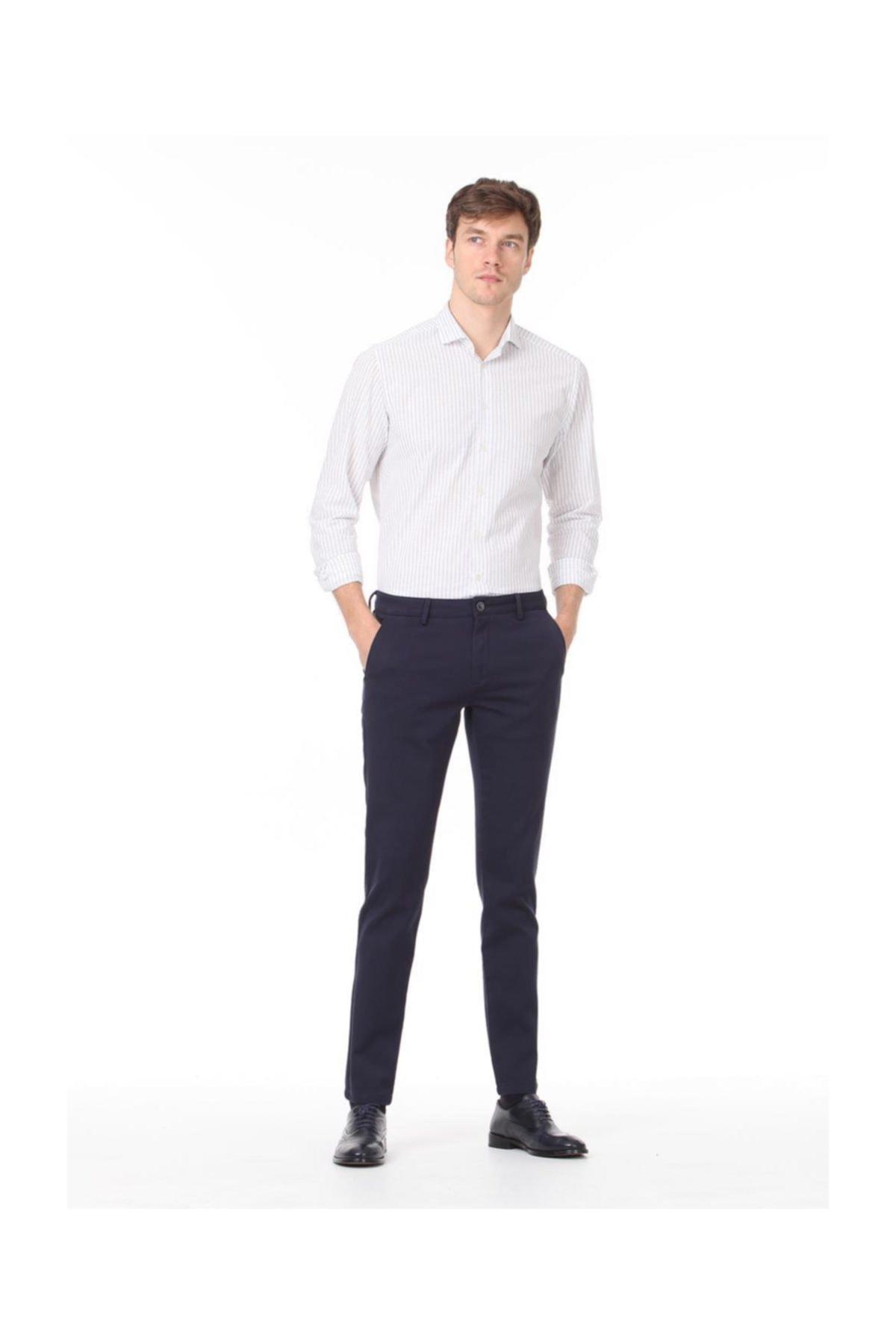 Ramsey Düz Dokuma Pantolon 1